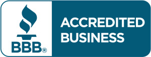 Horizontal Blue BBB Accredited Business Seal